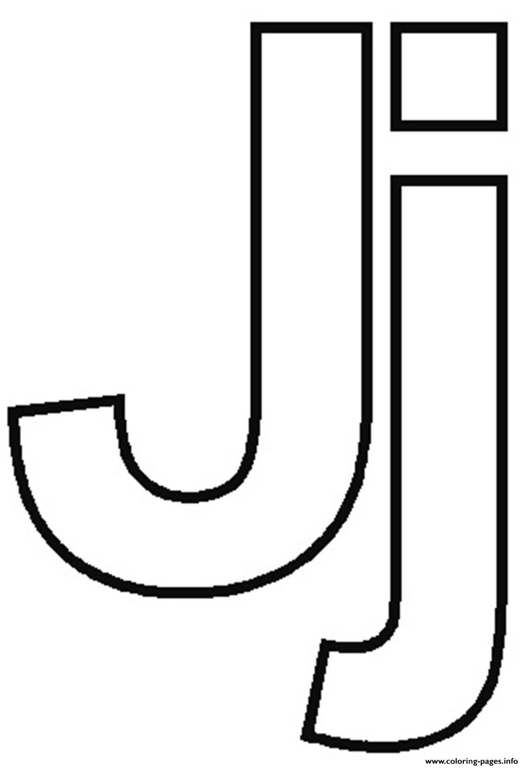 Free J Alphabet F610 Coloring Pages