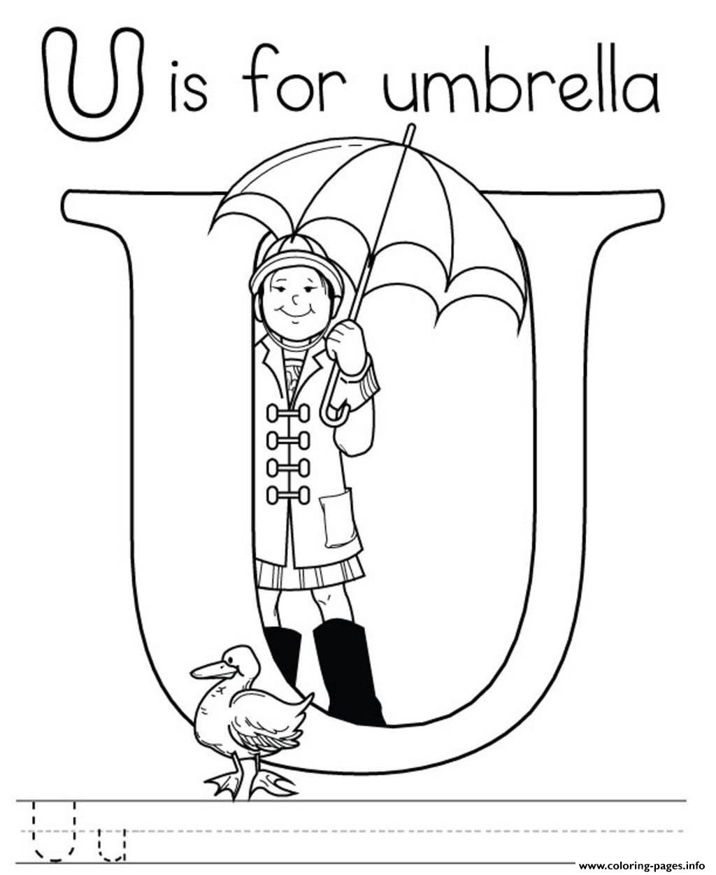 Printable U Alphabet S Free6ac4 coloring pages