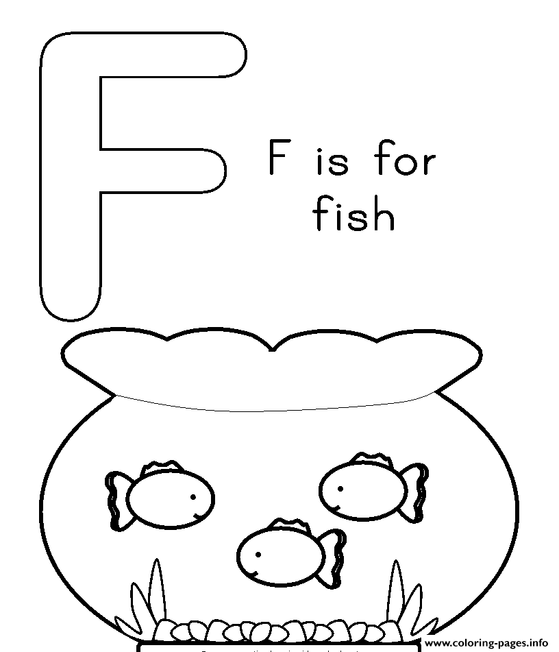 F Is For Fish Free Alphabet S433d coloring pages