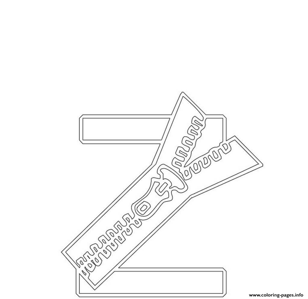 Free Zipper Alphabet S4cdc coloring pages