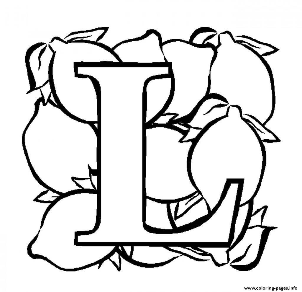 Fruit lemon alphabet s free9ec5 coloring pages printable