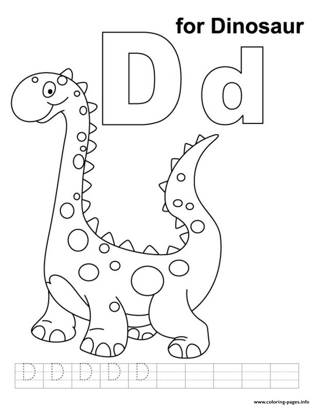 D Coloring Page  Free D Online Coloring  TheColorcom