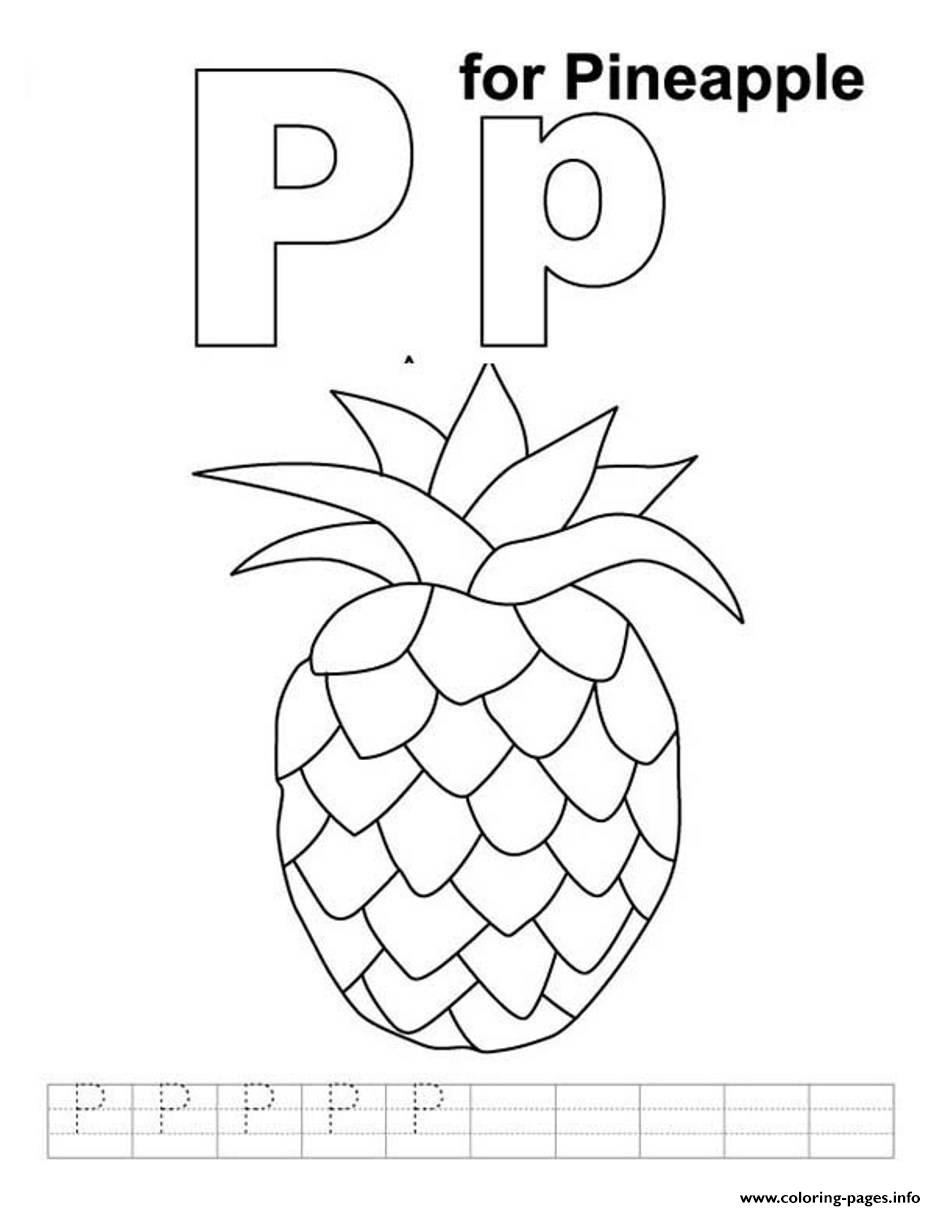 Pineapple Free Alphabet S3992 Coloring