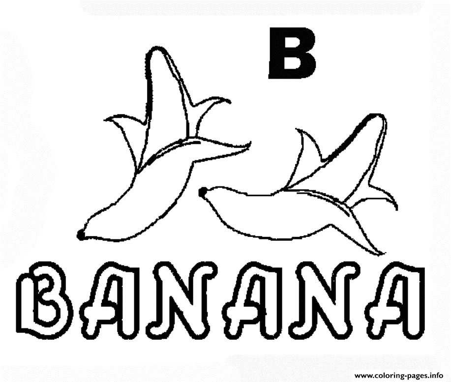 Alphabet S Banana In B Colorc66b coloring pages