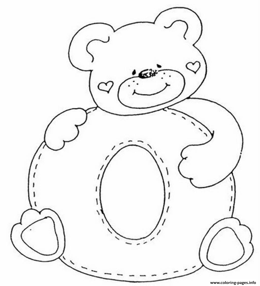 cute bear in o alphabet s2865 coloring pages printable