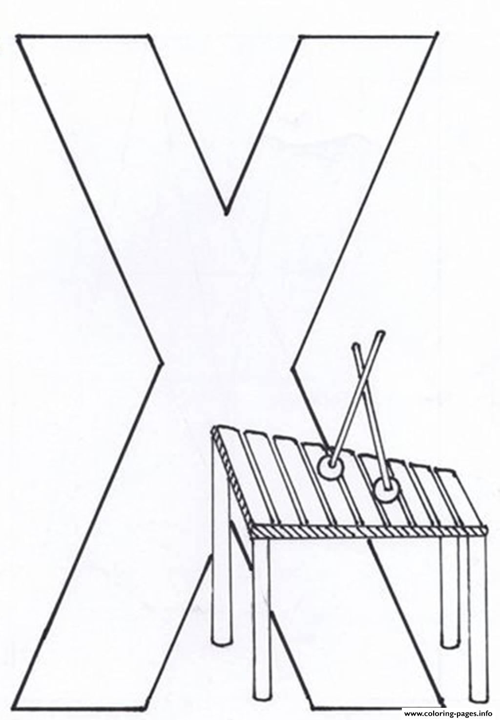 Letter X For Xylophone Alphabet S2d99 coloring pages