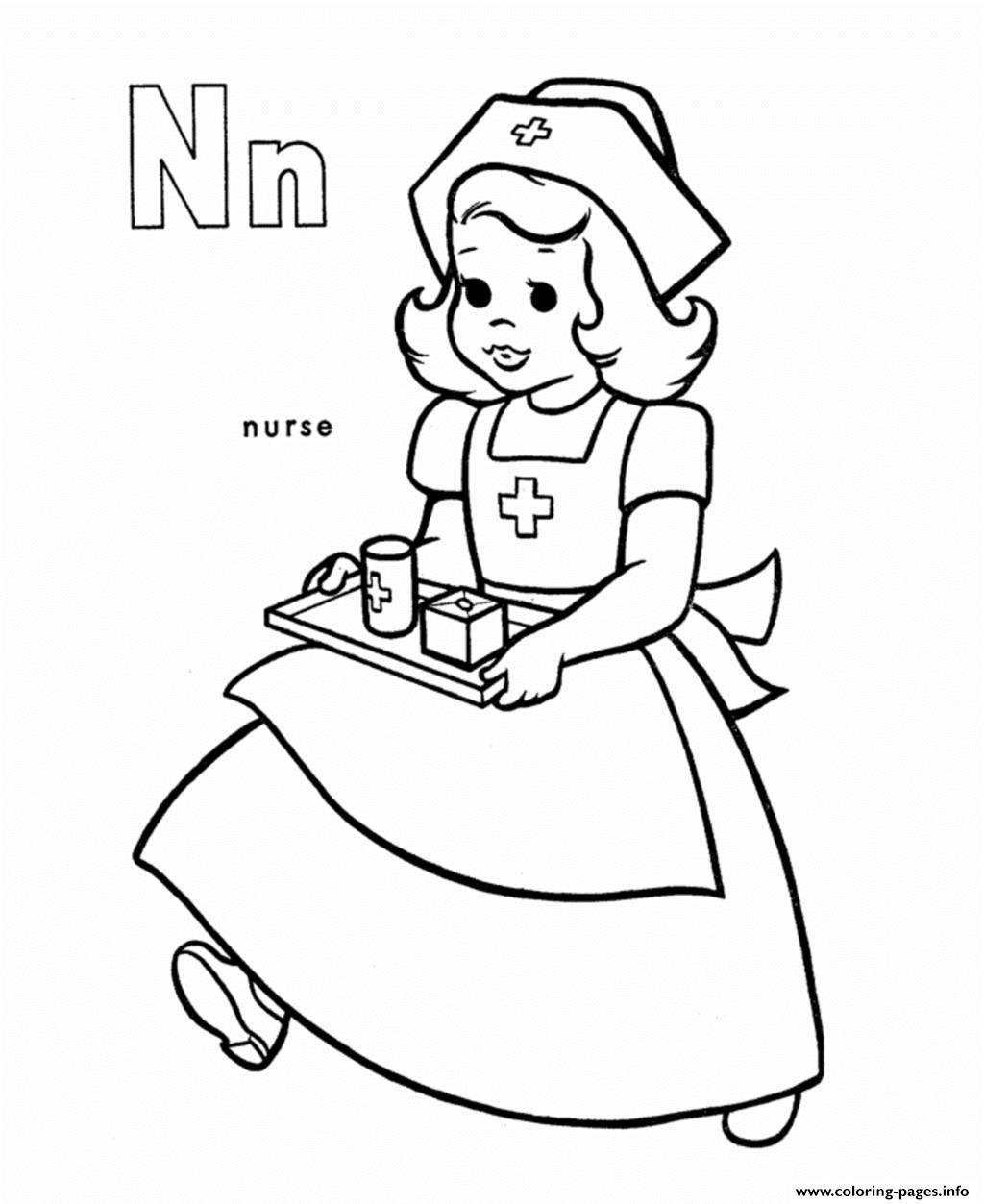 free alphabet s n is nurse26bd coloring pages printable