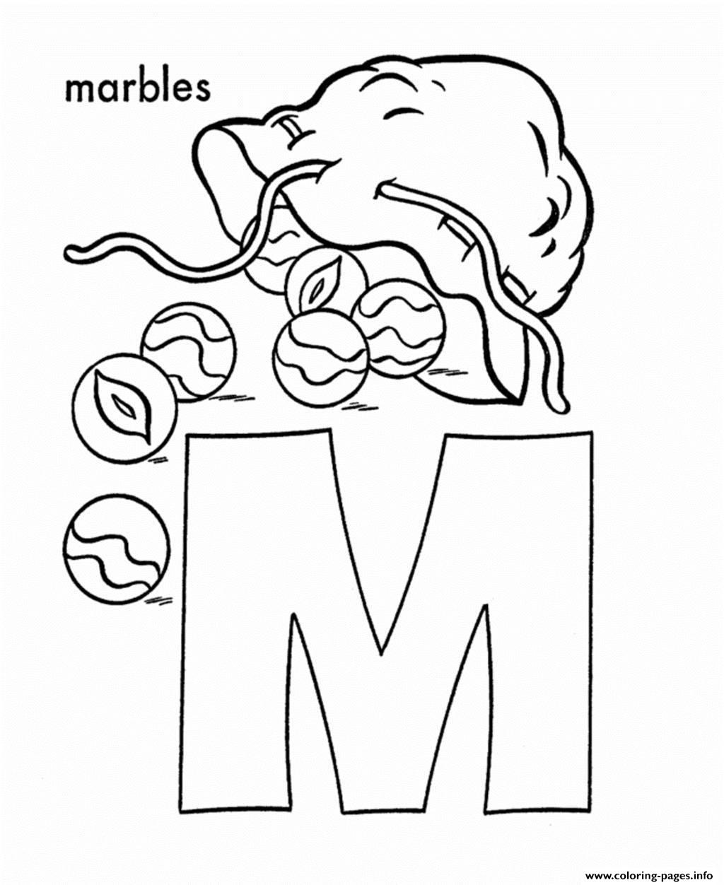 Cartoon Colored Marbles : Free alphabet s m for marbles b coloring pages printable