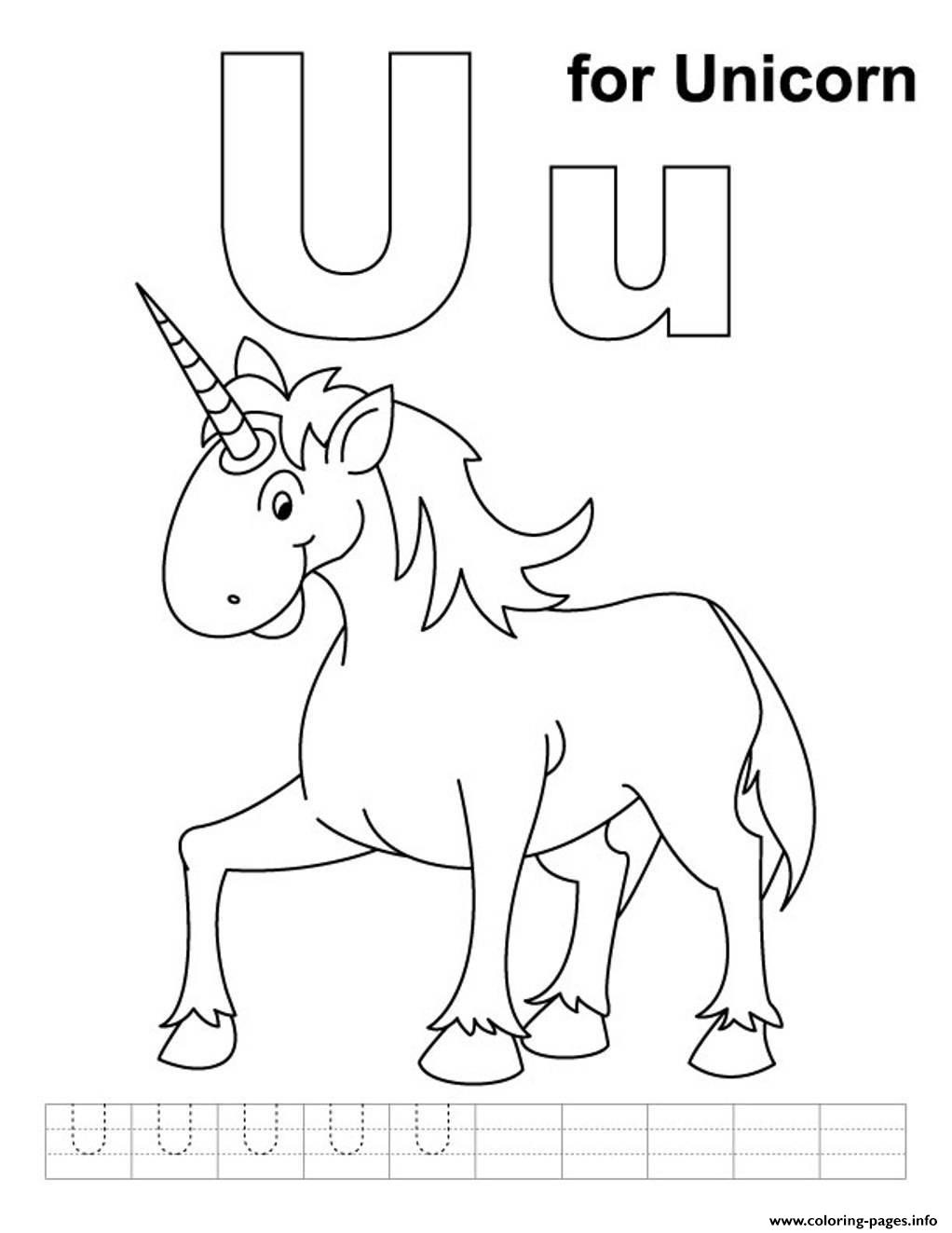 u is for unicorn alphabet s freed3ce coloring pages printable
