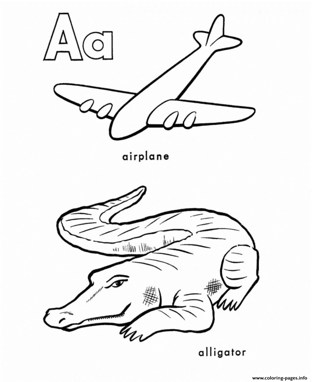 Alphabet S Printable A Is For Airplane