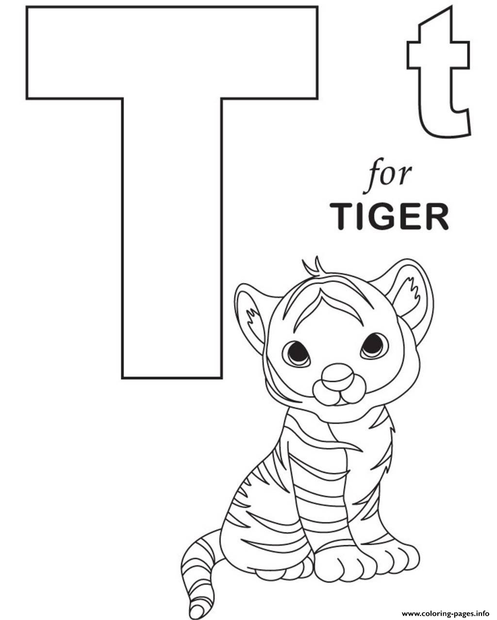 free online alphabet coloring pages | Little Tiger Alphabet 05e9 Coloring Pages Printable