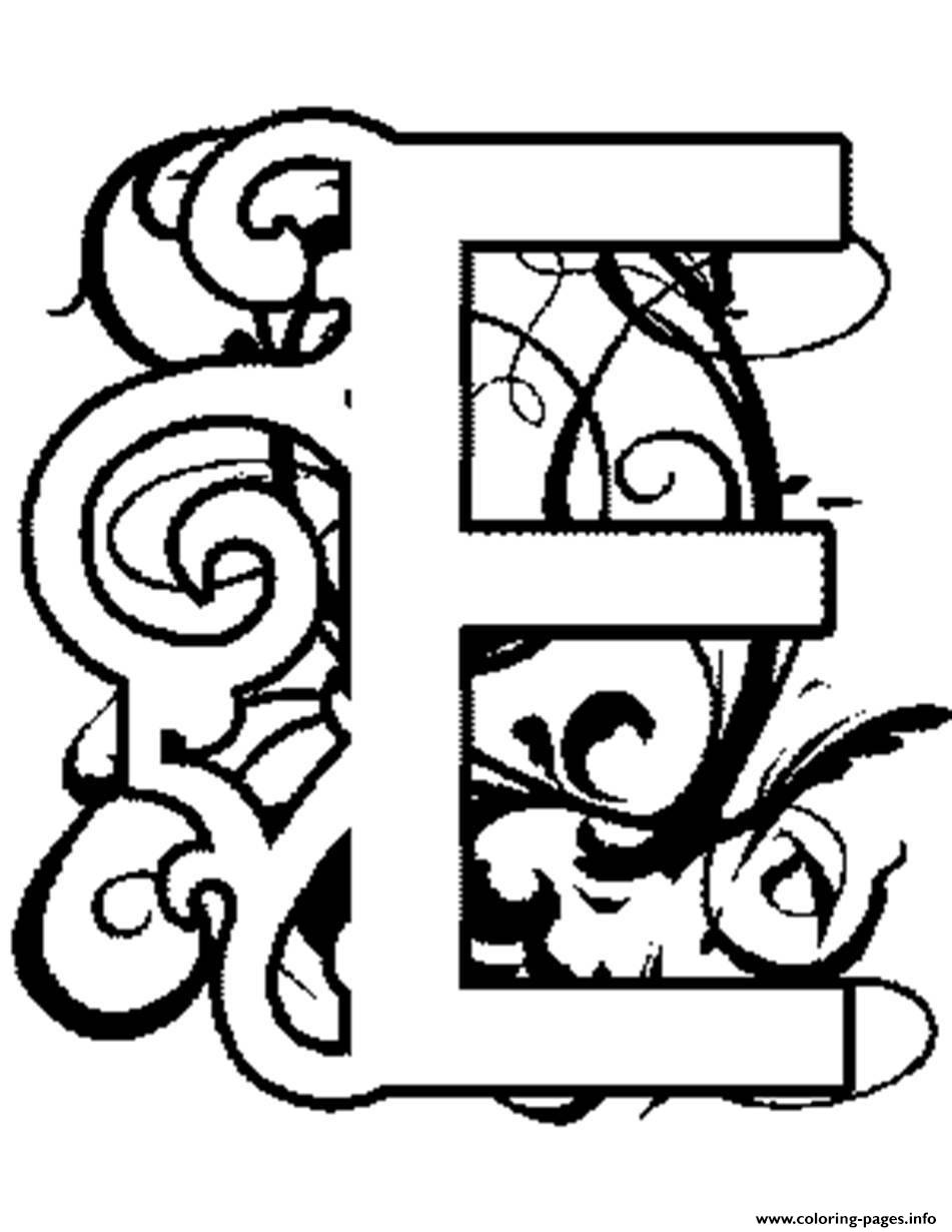 illuminated alphabet coloring pages free - photo#7