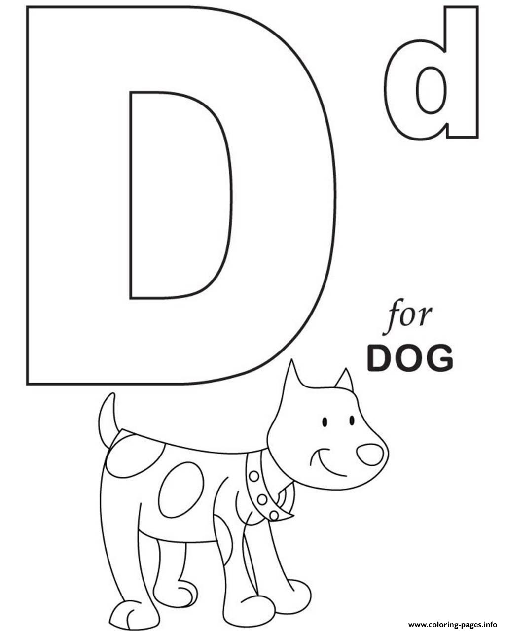 D For Dog Printable Alphabet S29a7c Coloring Pages Printable