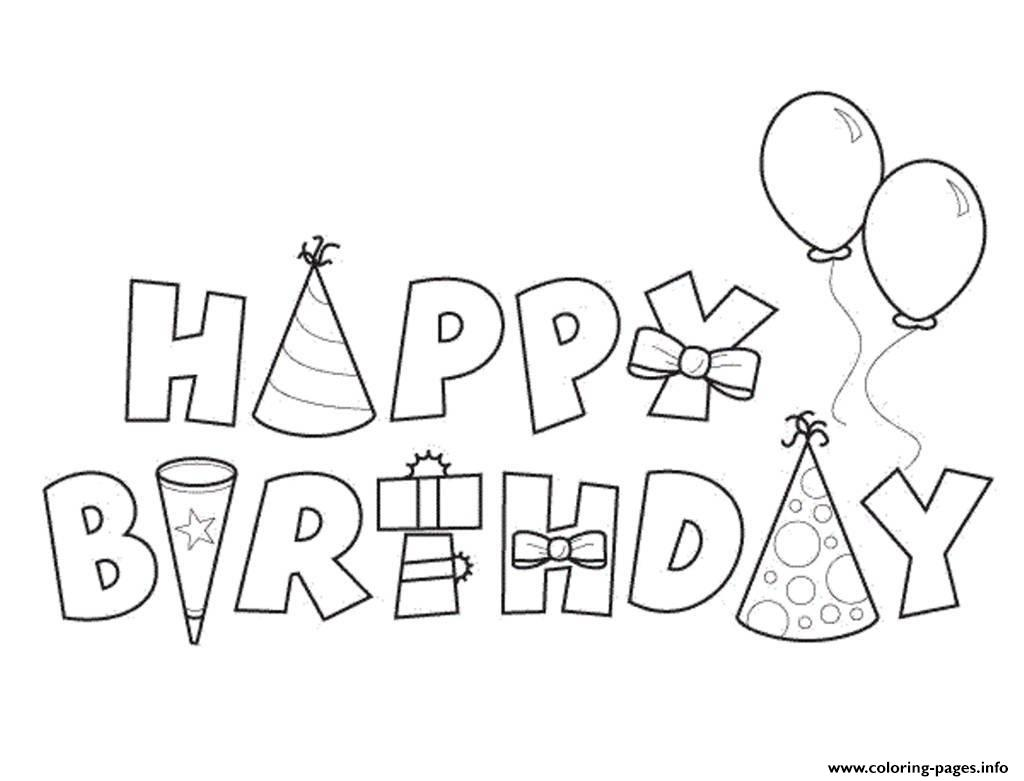 Happy Birthday Alphabet18e Coloring Pages Printable