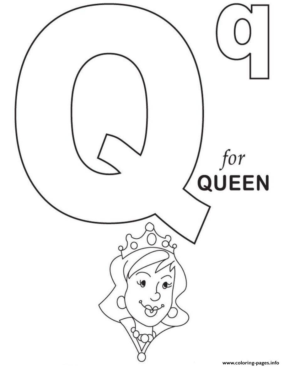 Q Is For Queen Alphabet Sd12d12 Coloring Pages Printable