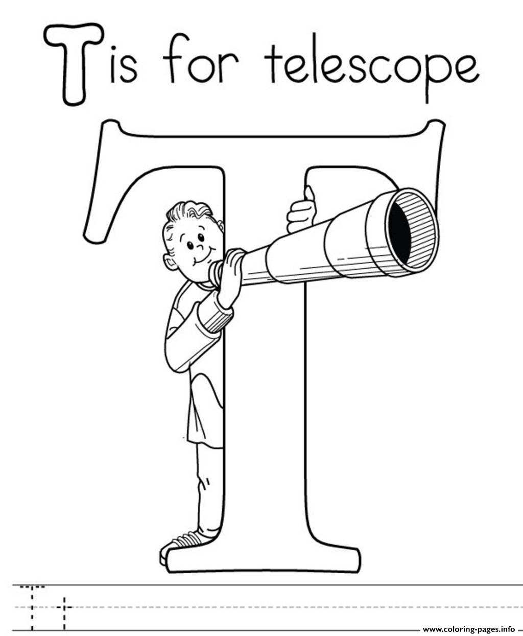 Telescope Alphabet B792 Coloring Pages Printable