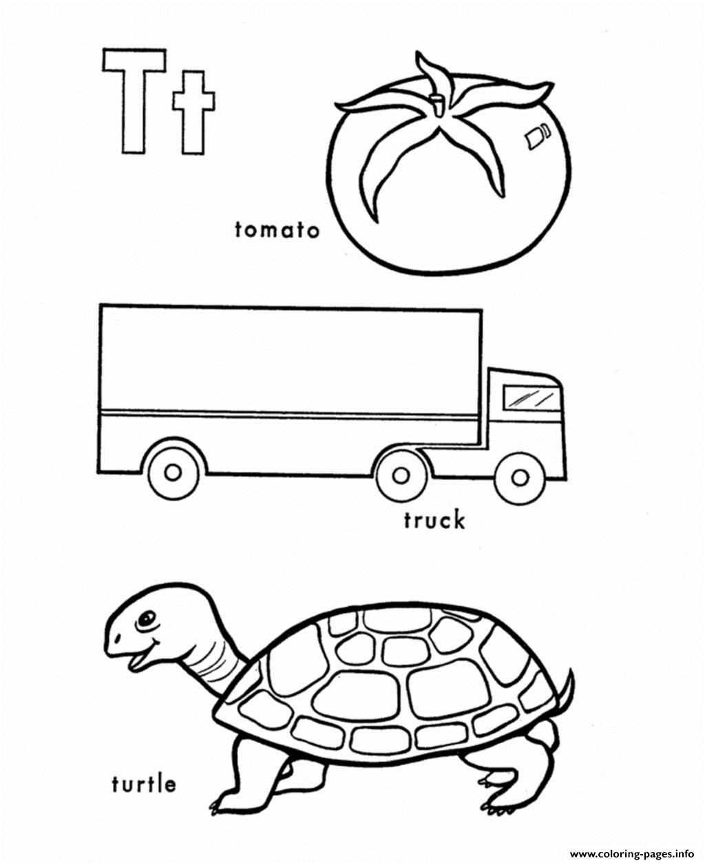 Different Words From T Alphabet 29ca Coloring Pages Printable