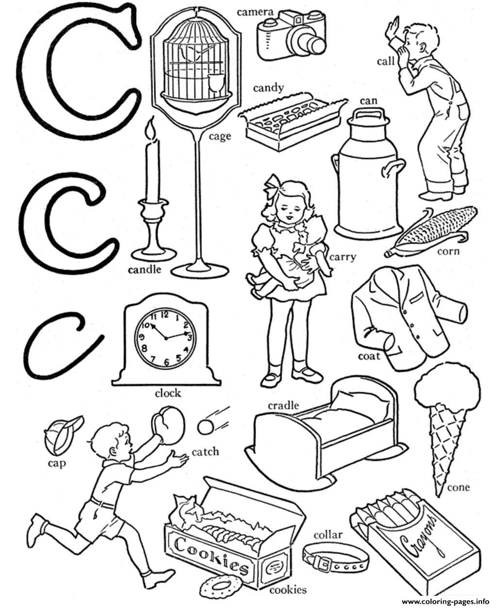 Abc Words S Alphabet C7377 Coloring Pages Printable