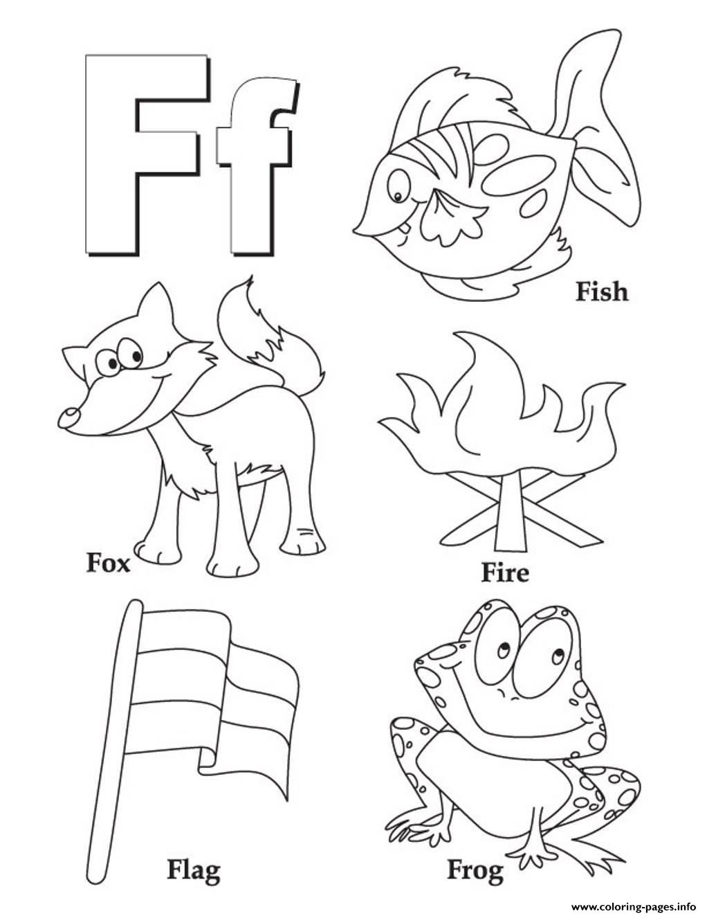 Free Alphabet S Words Of F4039 Coloring Pages Printable