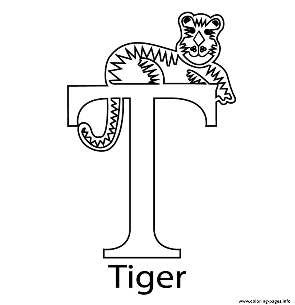 Tiger Alphabet 7f14 coloring pages