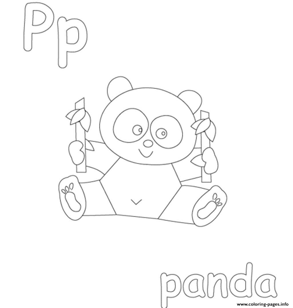 Panda Free Alphabet Sa85e coloring pages