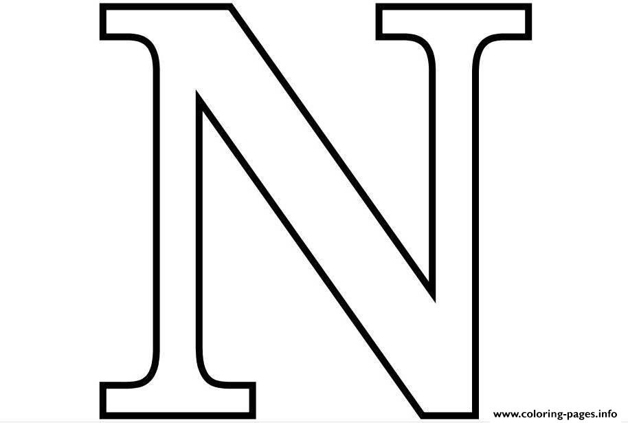 Letter N Coloring Pages Printable