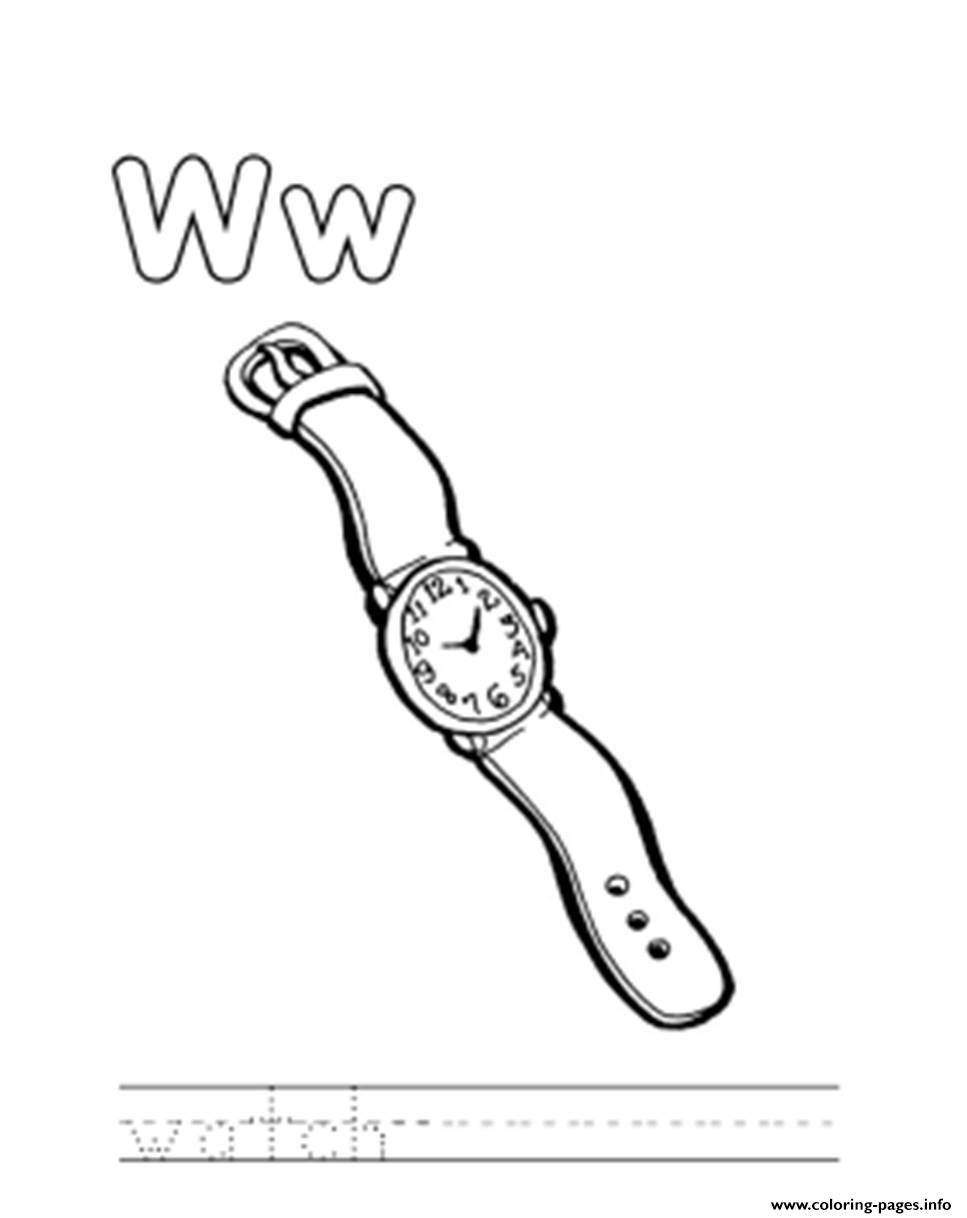 Free Alphabet S Watch6642 Coloring Pages Printable