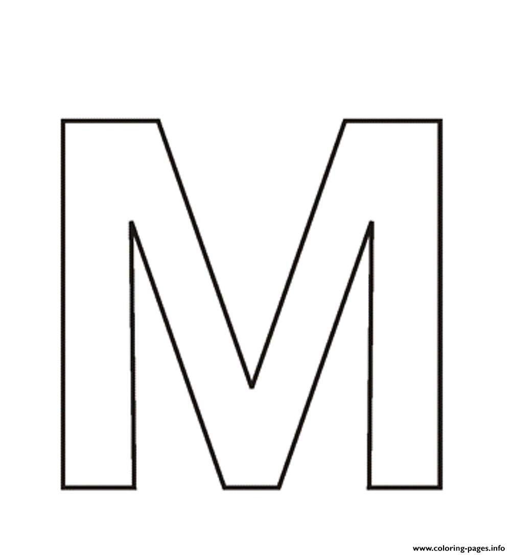 Letter M Free Alphabet S3713 Coloring Pages