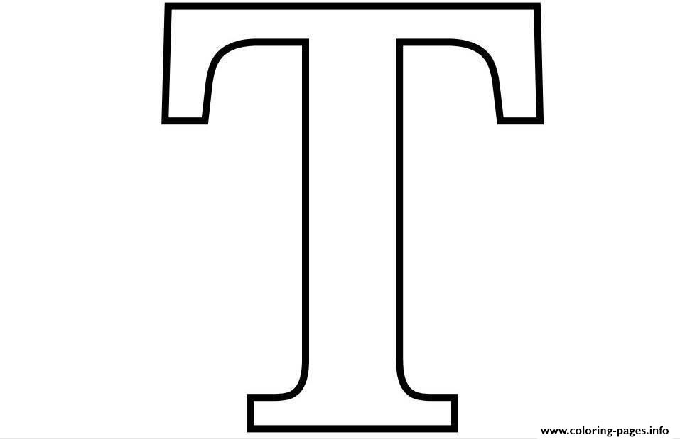 image about Printable T named Letter T Free of charge Alphabet 6580 Coloring Webpages Printable