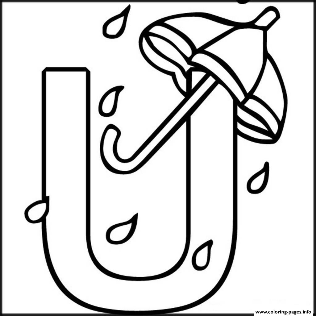 Alphabet s free umbrella9bee coloring pages printable for Letter u coloring pages
