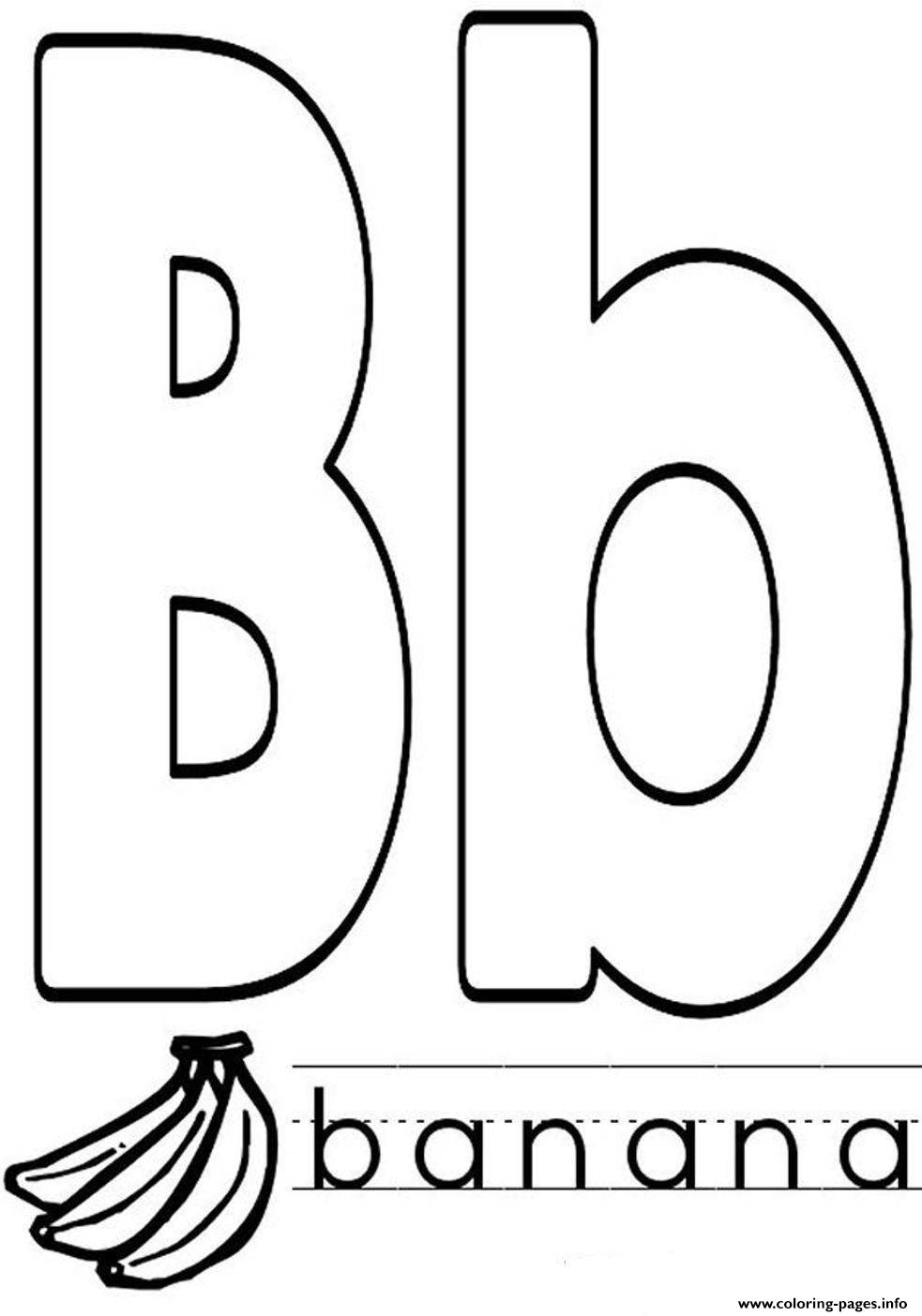 Banana In B Word Alphabet S1d7c coloring pages