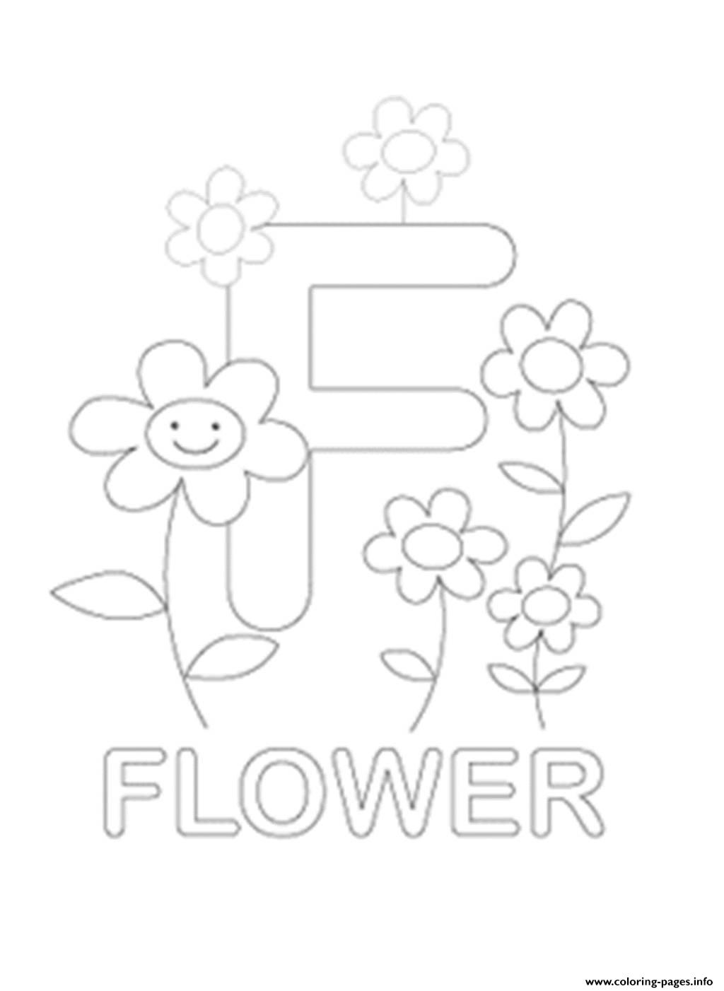 free coloring pages with letters - f for flower free alphabet s599e coloring pages printable