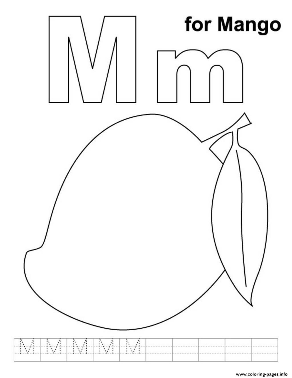 Mango Free Alphabet S86ed Coloring