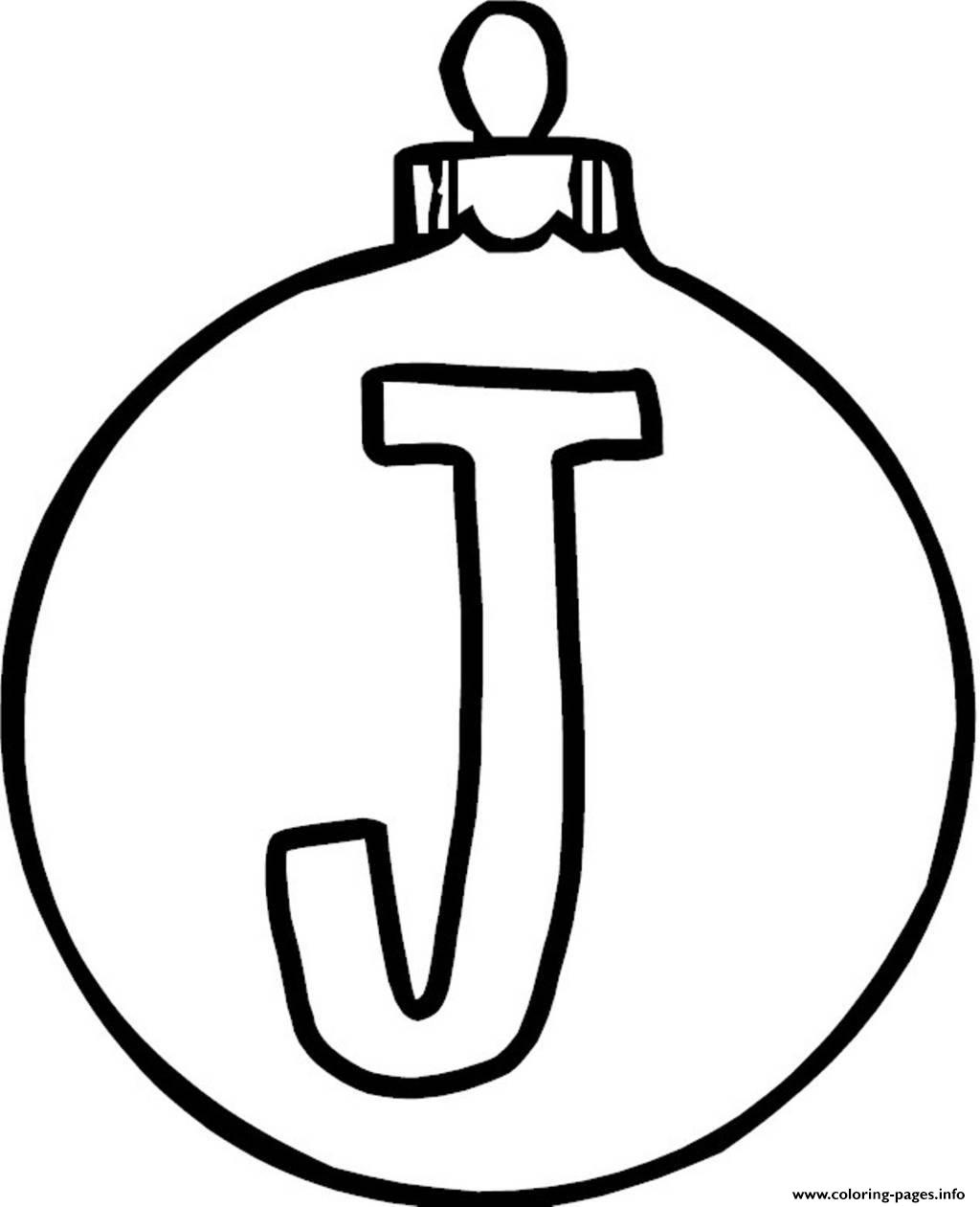 - Ornament J Alphabet 1c16 Coloring Pages Printable