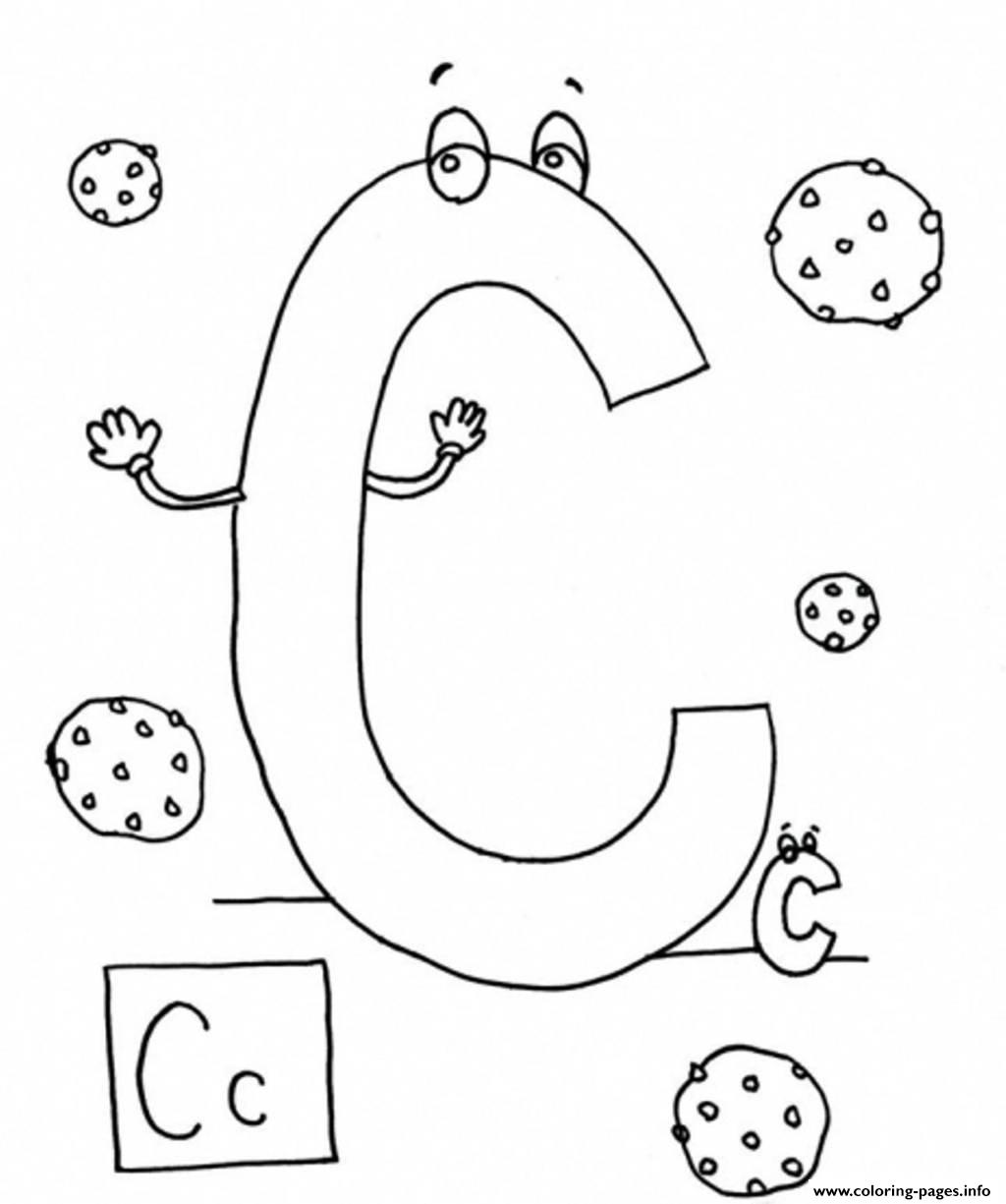 C is for cookies s alphabet3b23 coloring pages printable