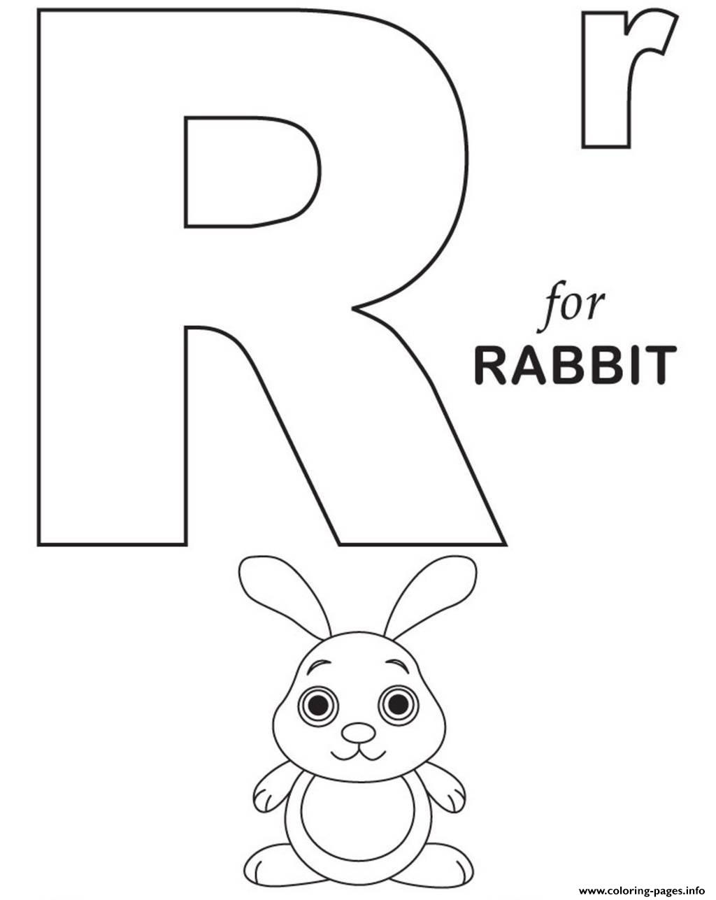R Coloring Page  Free R Online Coloring  TheColorcom