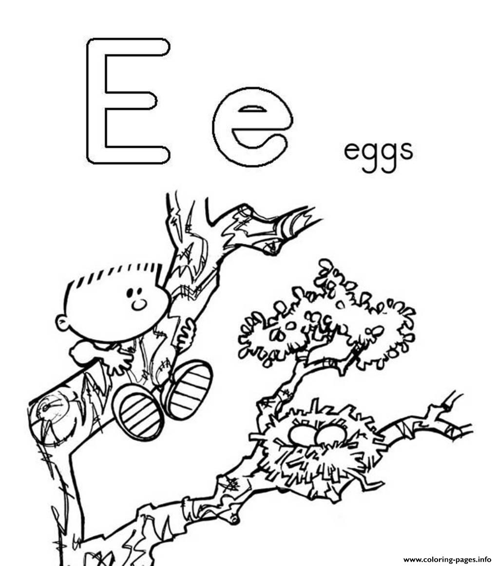 alphabet s free e for eggs0c5b coloring pages printable