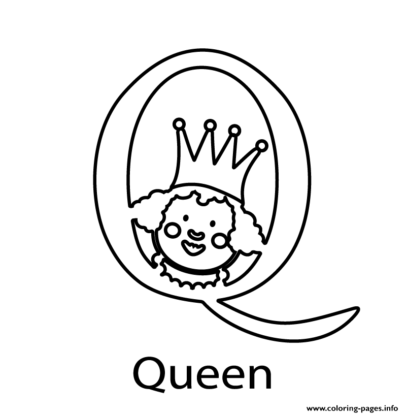 Alphabet S Queen0775 coloring pages