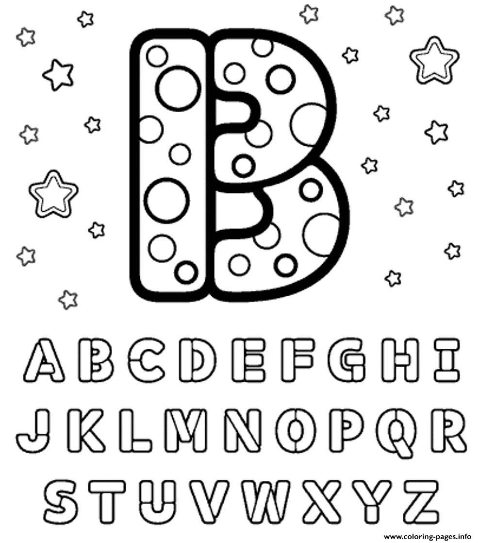 B Letter Alphabet S1680 Coloring Pages Printable