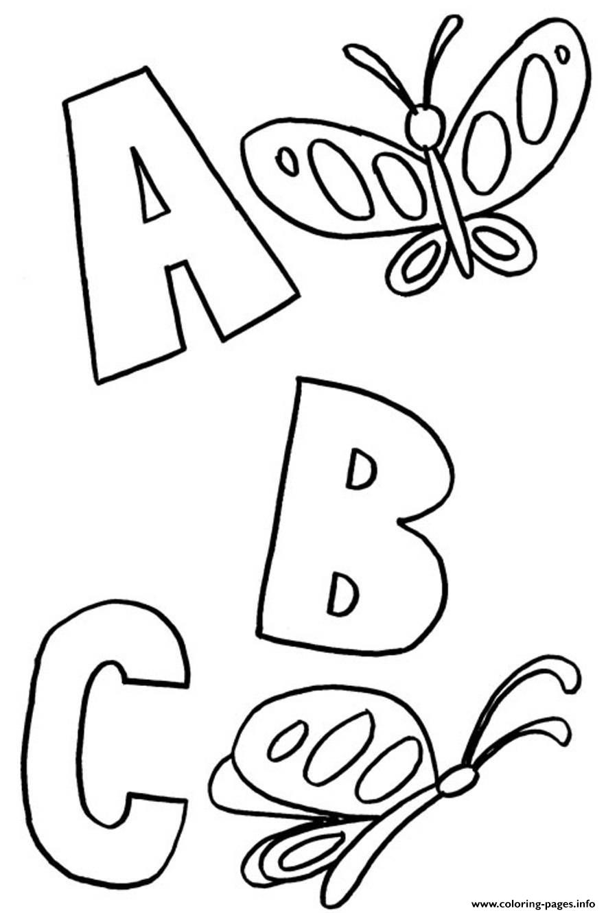 Abc Butterflies Alphabet S Printablee4df Coloring Pages Printable