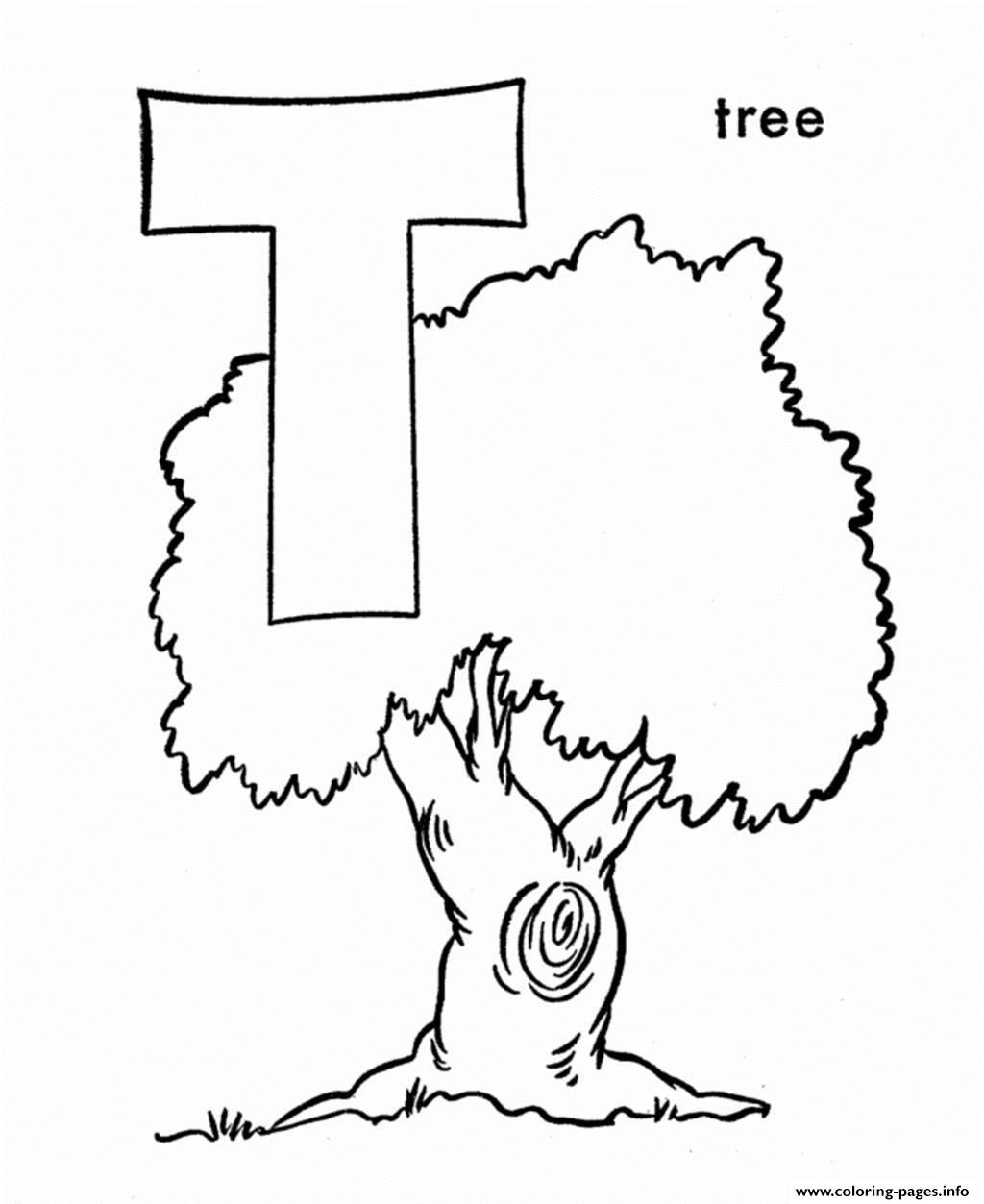 Tree Alphabet 943f coloring pages