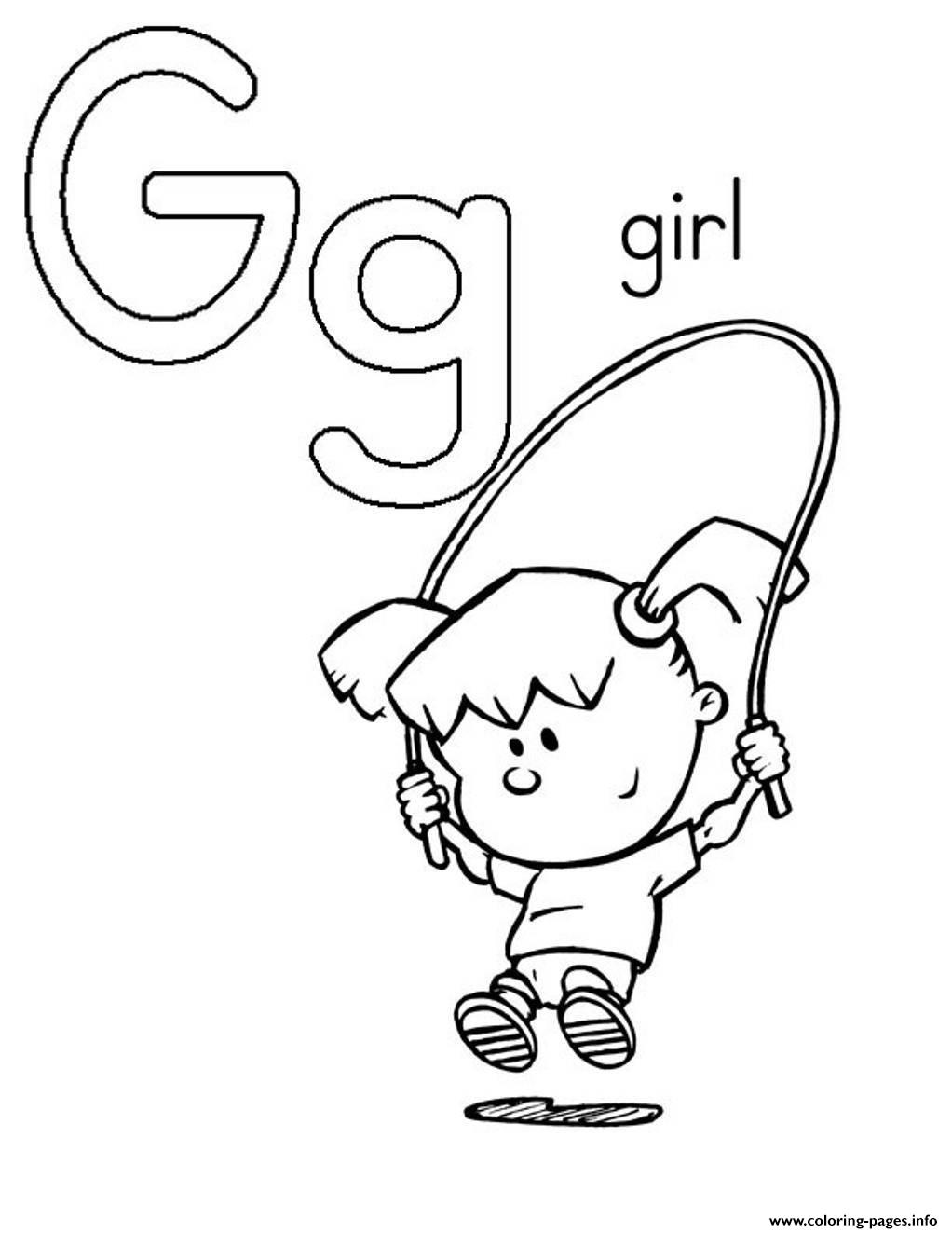 g coloring pages print - photo #7