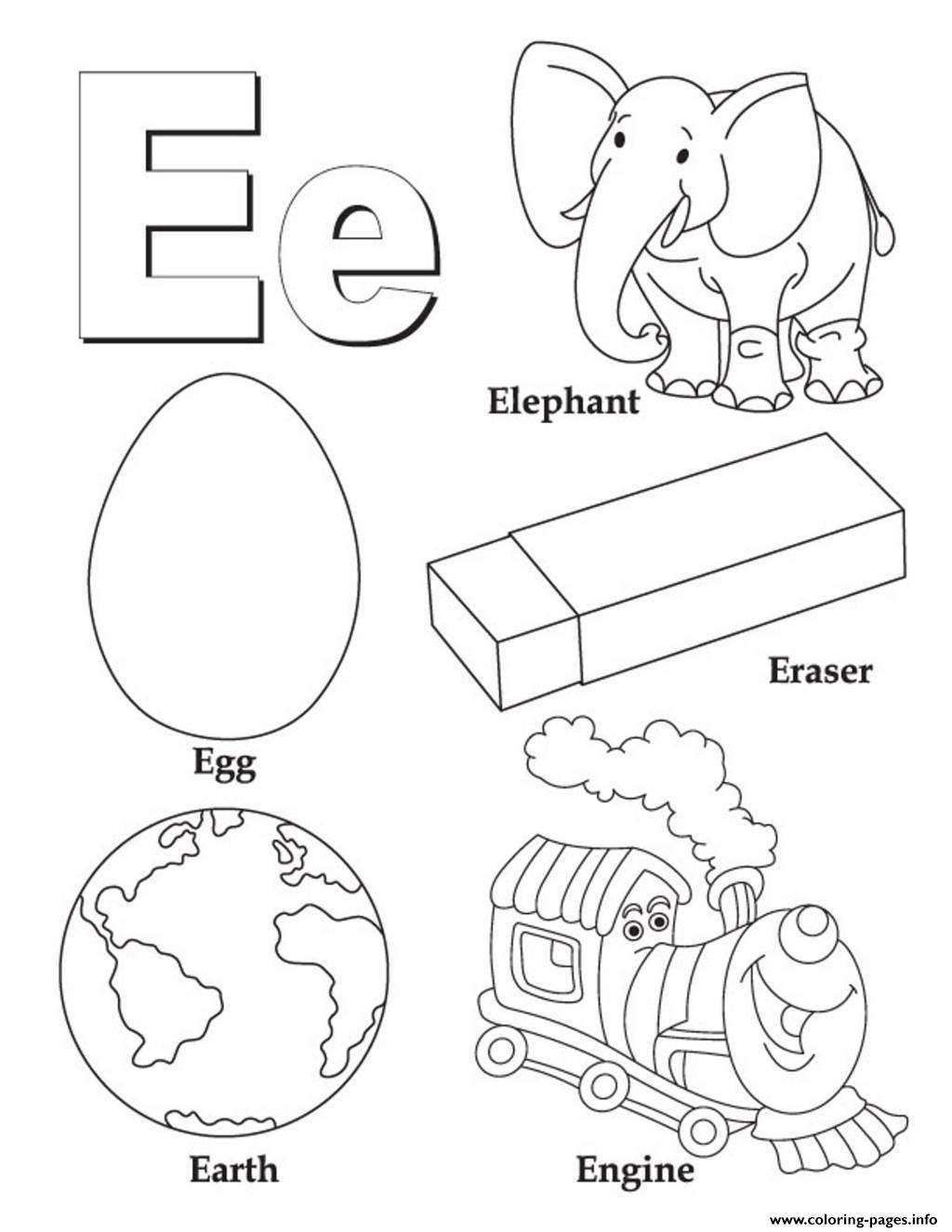 Free Coloring Pages With Alphabet : Alphabet s free words for ea a coloring pages printable