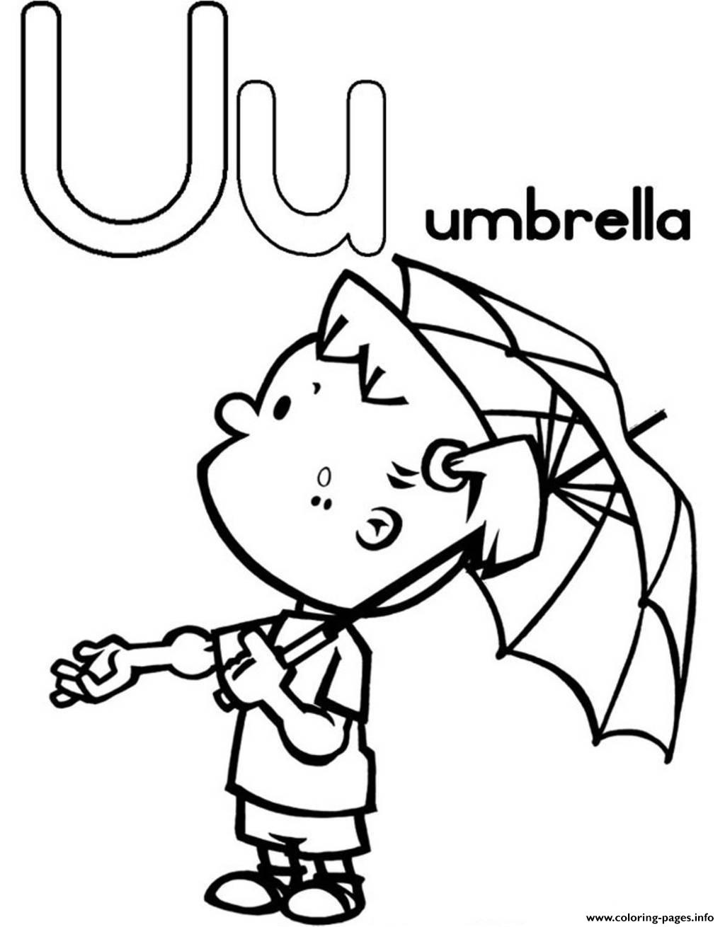 Littel Girl With Umbrella Alphabet S Freeed3c Coloring Pages Printable