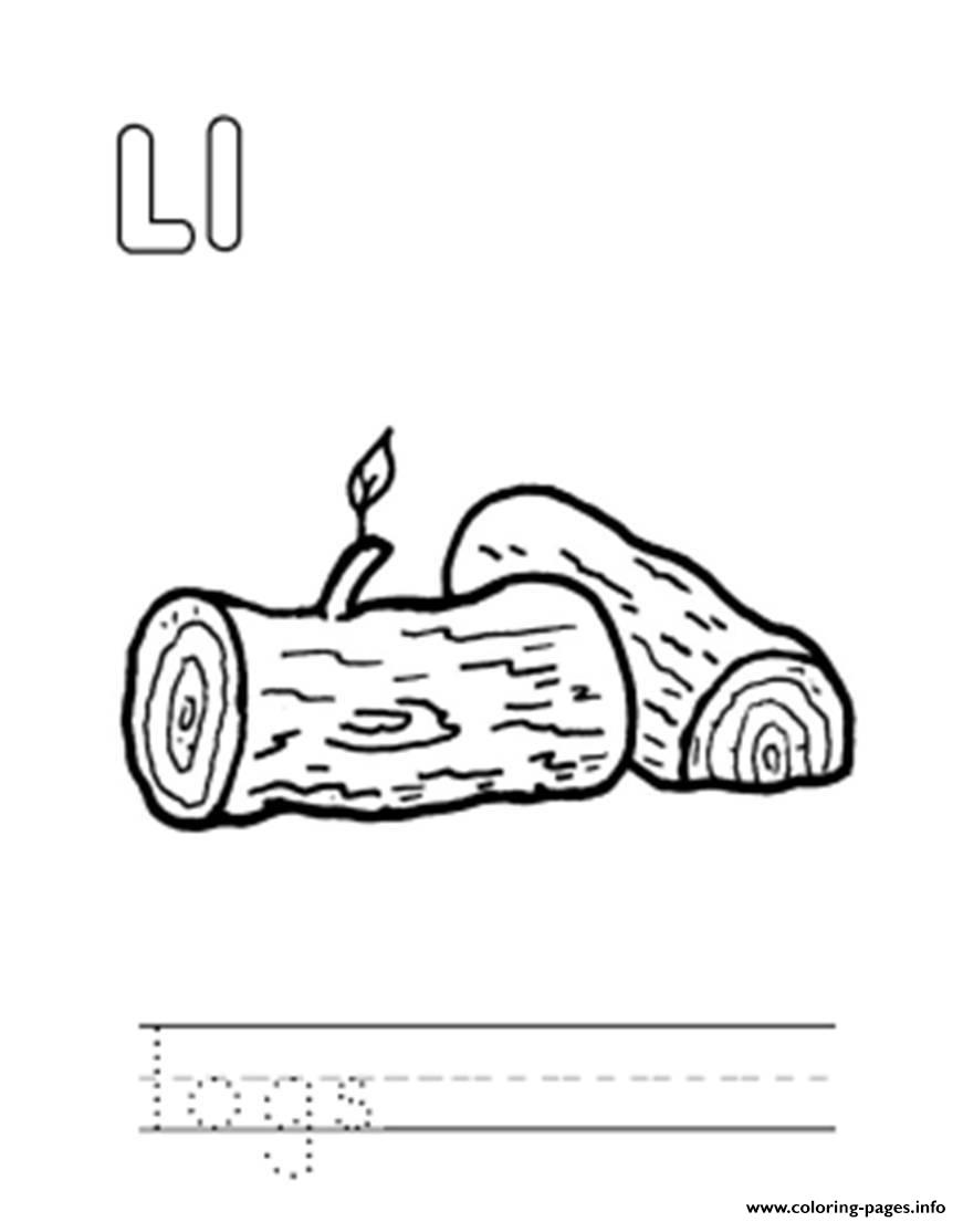 Logs Alphabet S Free0fe6 Coloring Pages Printable