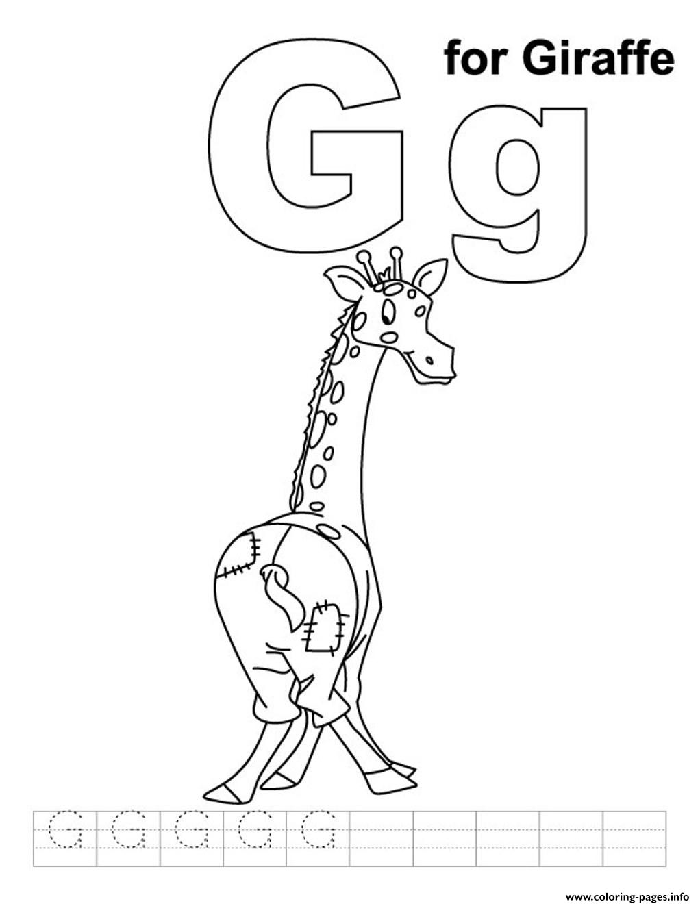 Coloring Pages Alphabet Animal Giraffe6ee8 Coloring Pages Printable
