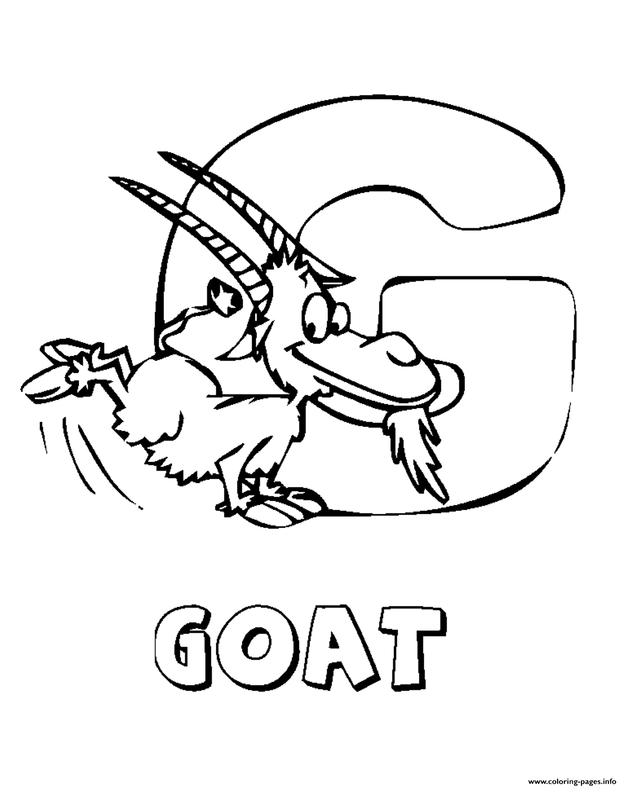 Coloring Pages Alphabet Animal Farm Goatb0f7