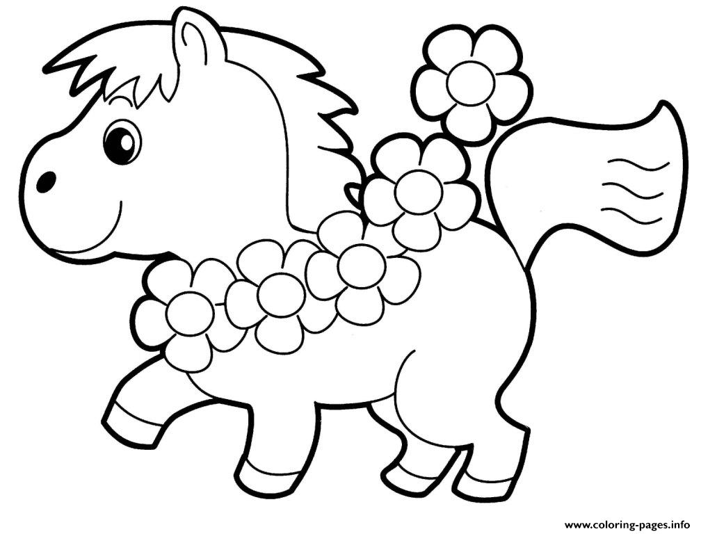 Little Horse Preschool S Animals90f8 Coloring Pages Printable