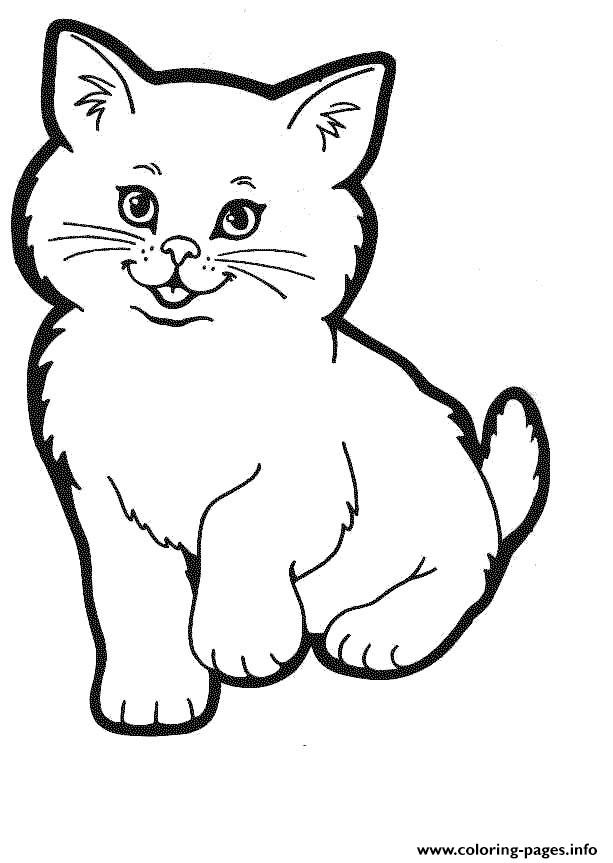 Smiling Cat Animal Coloring Pagesad78 Coloring Pages Printable