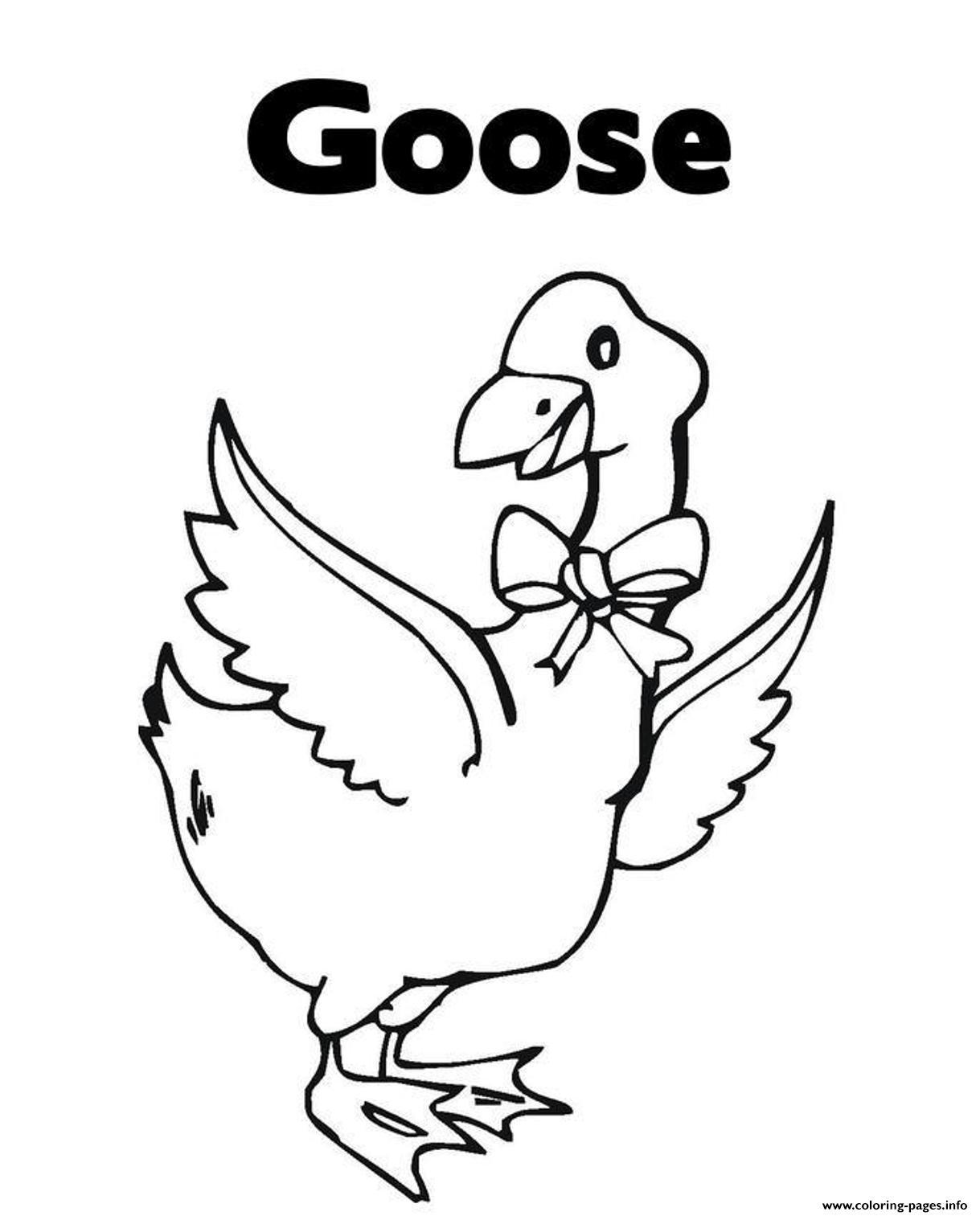 Printable Animal S Goose For Kids618d